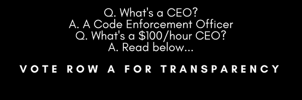 Code Enforcement Officer Position Given 700% Pay Increase. Vote Row A for Transparency.